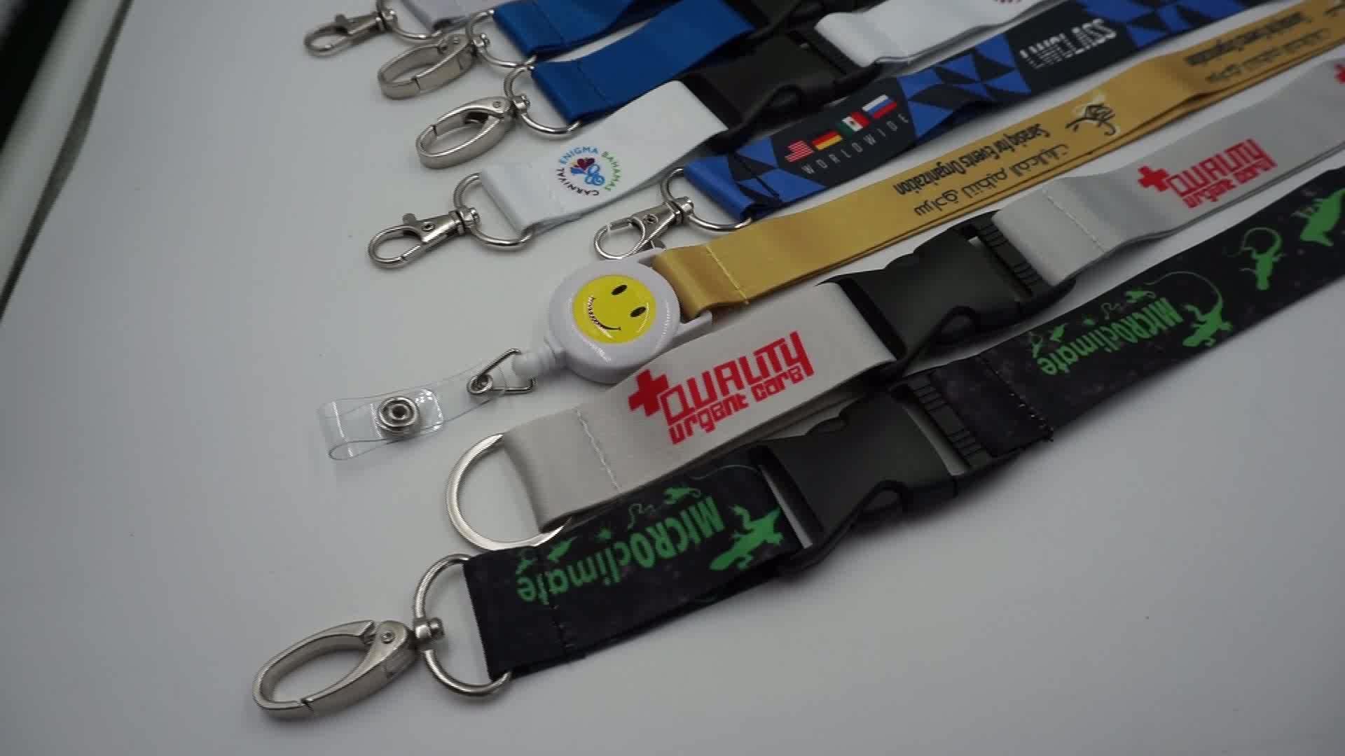 Thermal Transfer Printing Business Card/ID Card Holder Lanyard/Luggage Belt