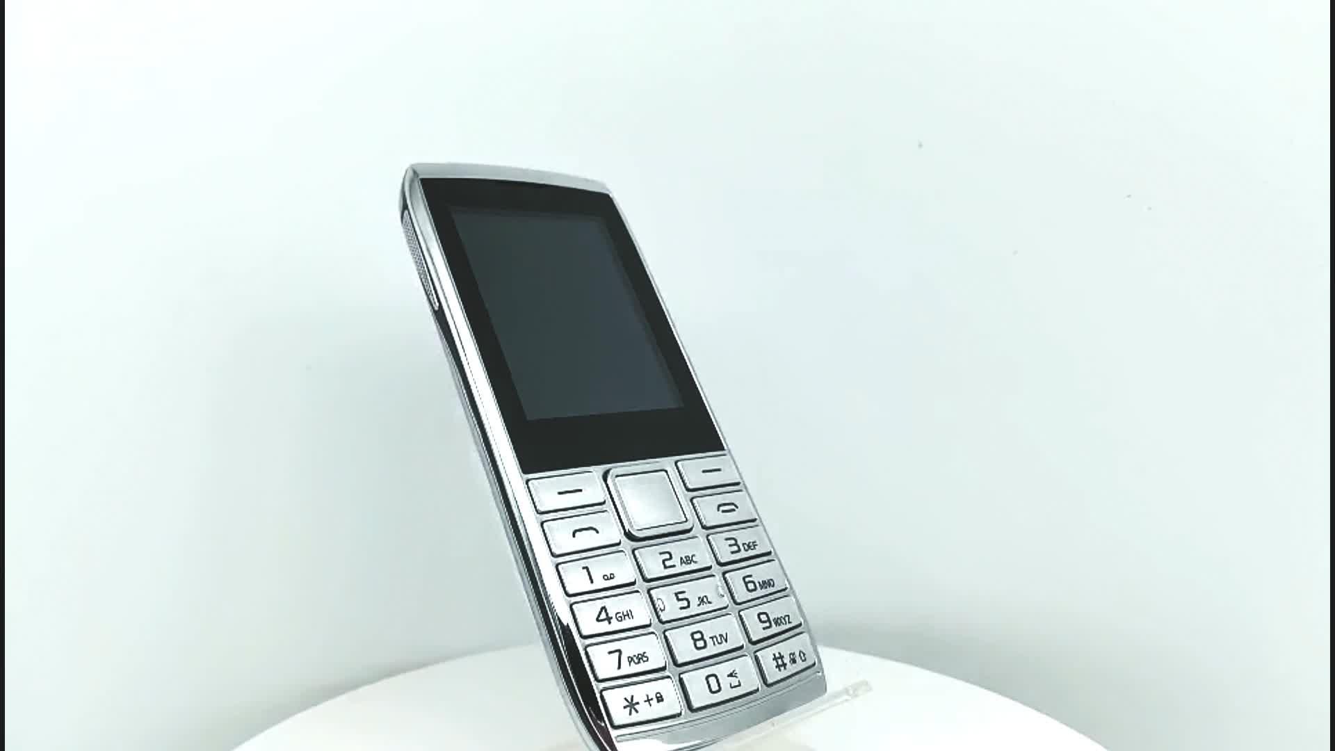 H216 2.4 Polegadas Tela Dual SIM Card Teclado Slim 2G GSM de Telefonia móvel