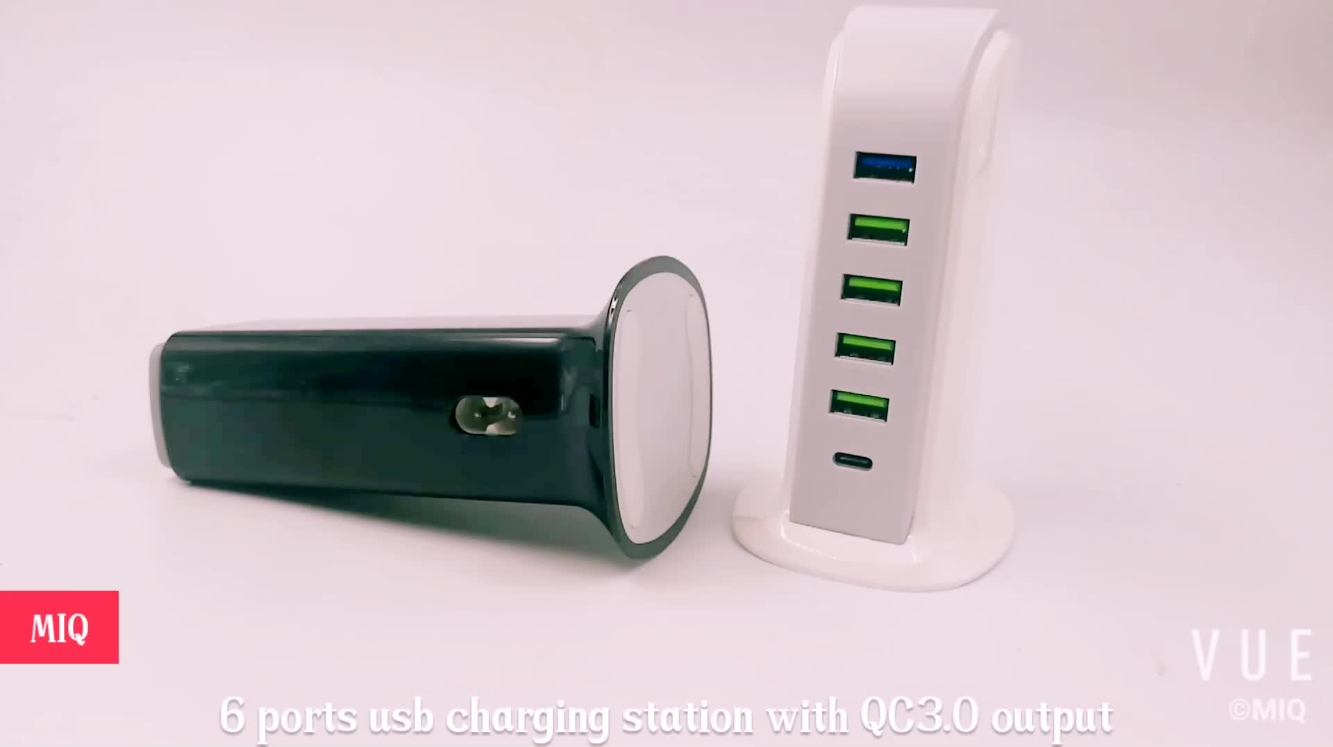 multiple plug travel Charger,6 ports usb charging station QC3.0