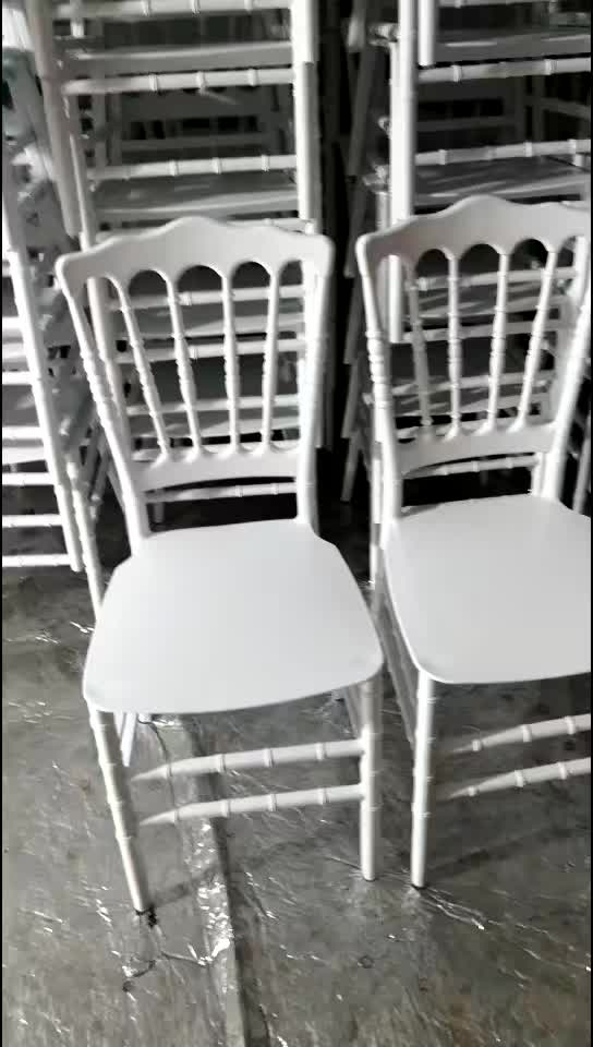 Banquet Chair Event Wedding Banquet Resin White Napoleon Chair