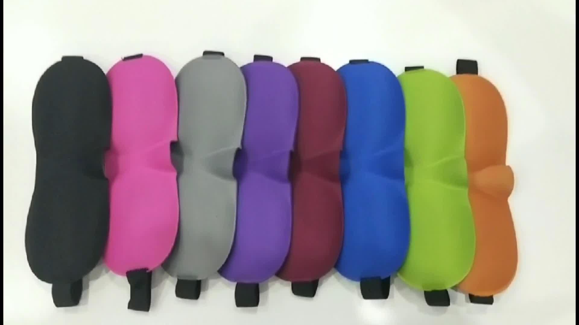 Popular Colourful Polyester 3D Sleep Eye Mask for Sale