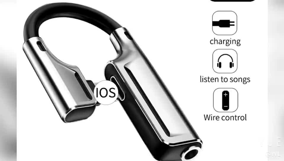 Amazon 2 IN 1 Aux Audio for iphone  Dual 8 Pin to 3.5mm Jack Connector Earphone Headphone Charging Adapter For iPhone11 Splitter