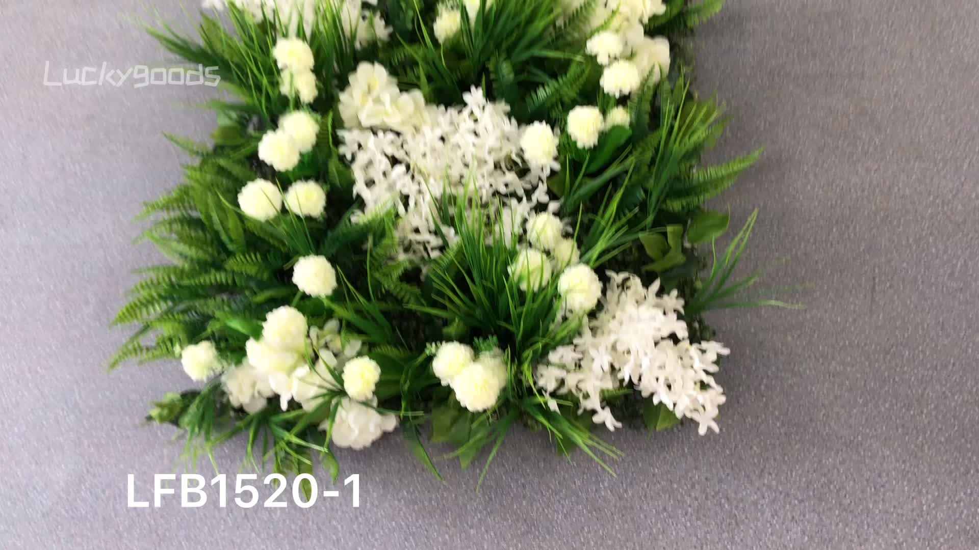 LFB1520 New design artificial green flower wall for wedding party decoration