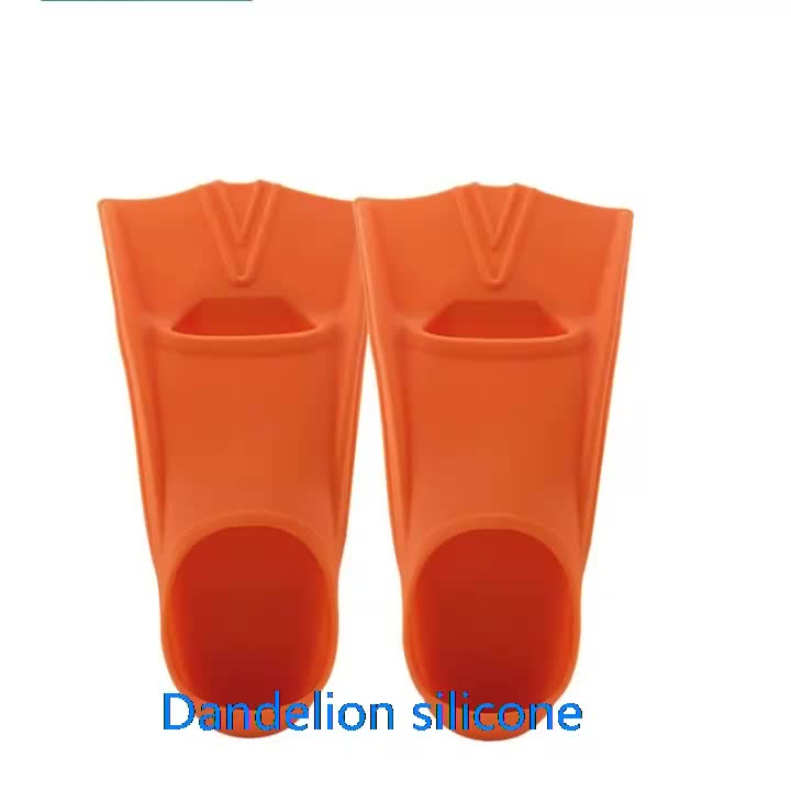 Mixed color adult size silicone swim fins on sale