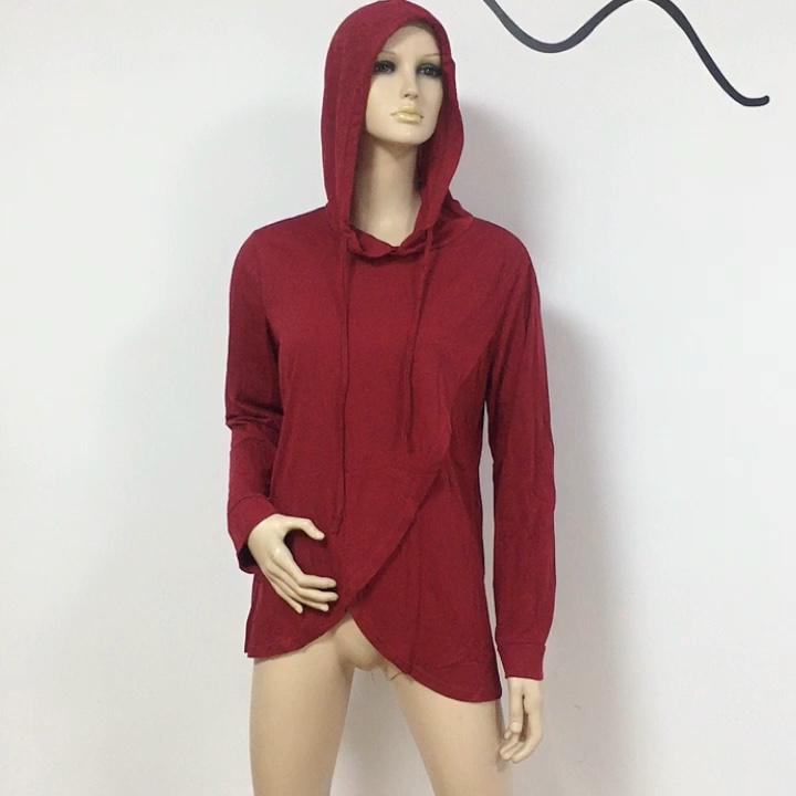Women Nursing Hoodie Sweatshirt Long Sleeve Solid Casual Breastfeeding Top Pregnancy Clothing Hooded Sweater