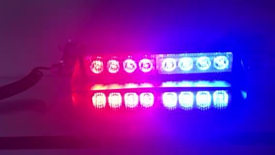 Cheap 12V red blue amber color dash deck strobe light emergency vehicle warning strobe police lights