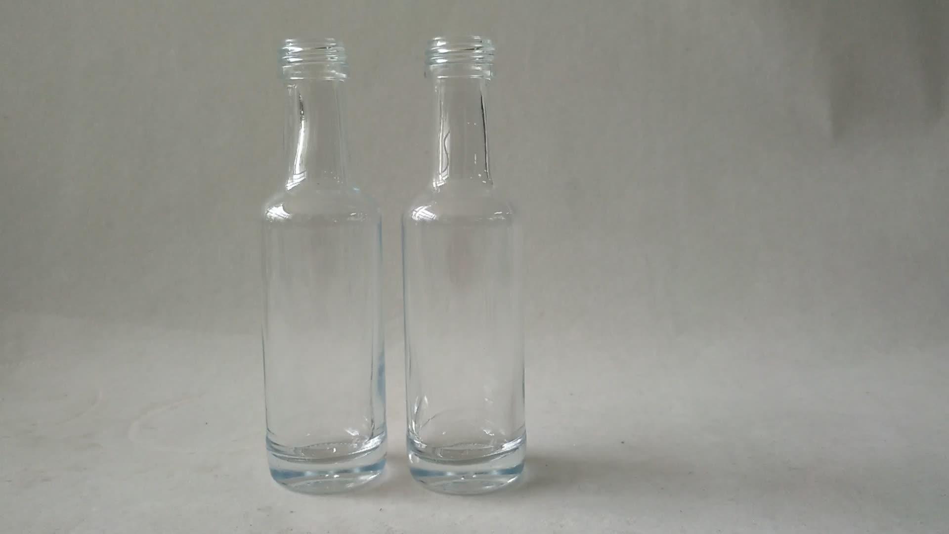 Empty Mini 50ml 100ml 200ml Glass Wine Liquor Bottles
