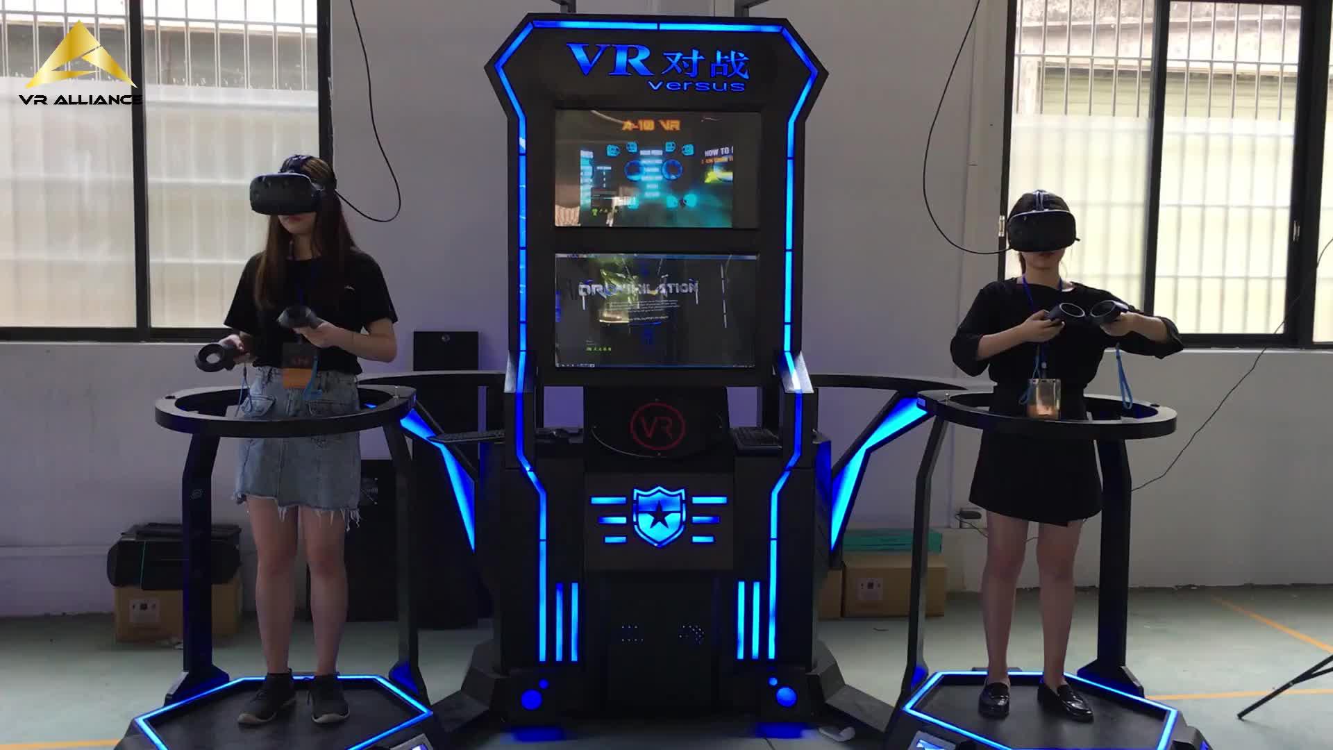 מרובה בעמידה 9d VR ירי קרב פלטפורמת מציאות מדומה ציד ארקייד מכונת משחק סימולטור