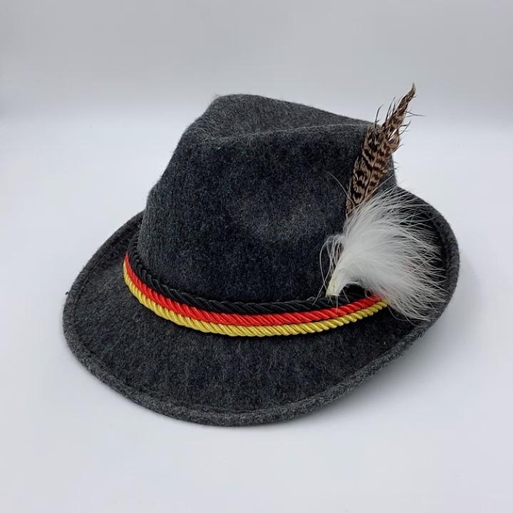 Festival Bir Gray Bahasa Jerman Oktoberfest Merasa Bavaria Alpine Hat MHH135