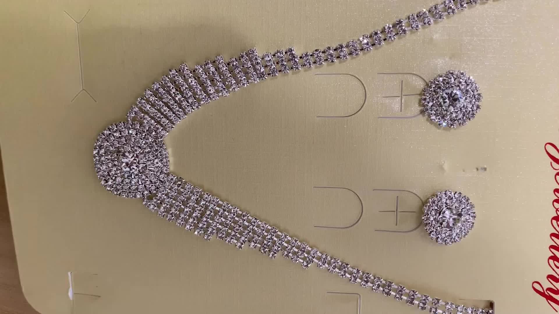 Fashion women accessories crystal wedding party jewelry sets
