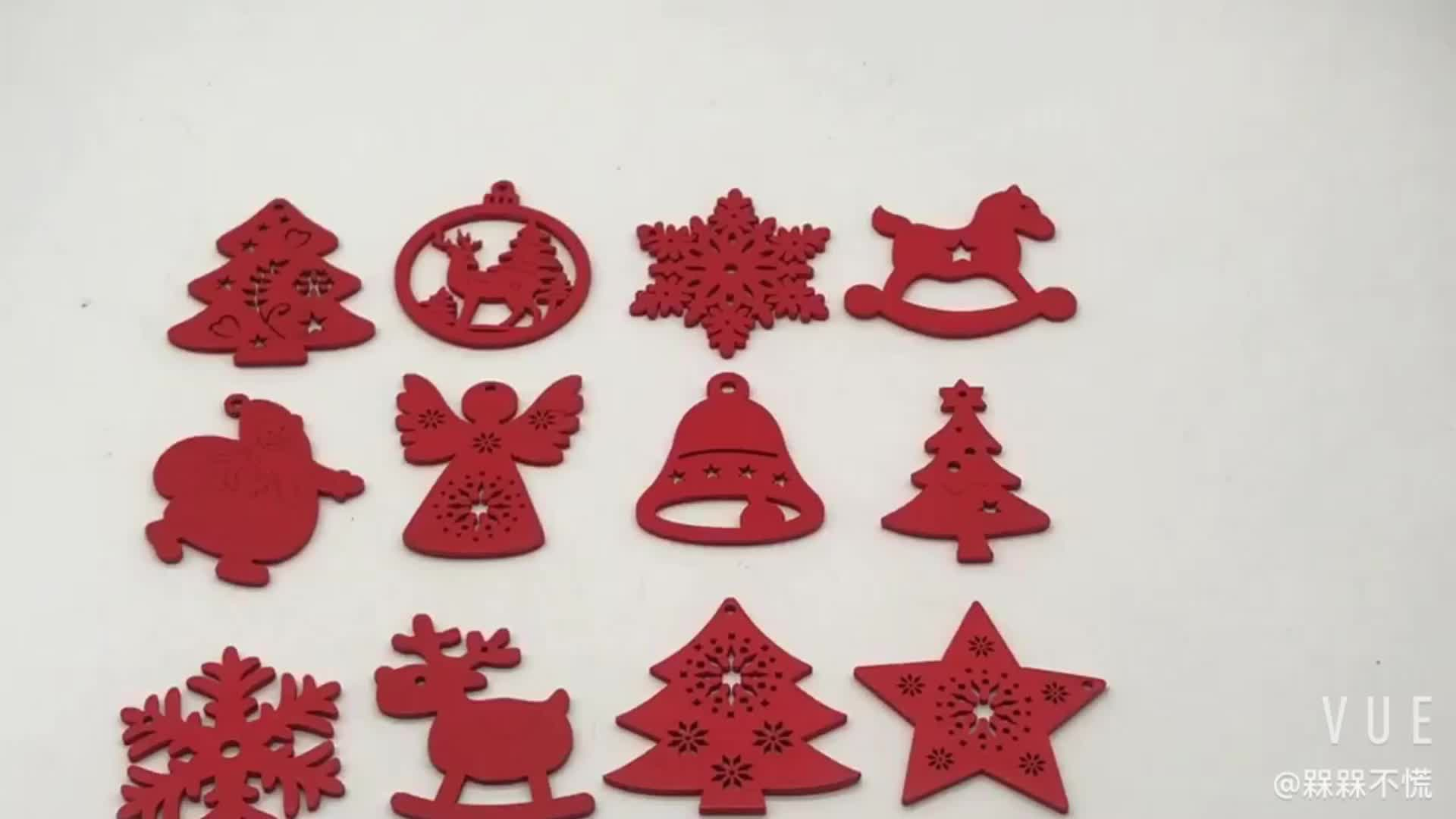 Il rosso di festa Di Natale del pendente