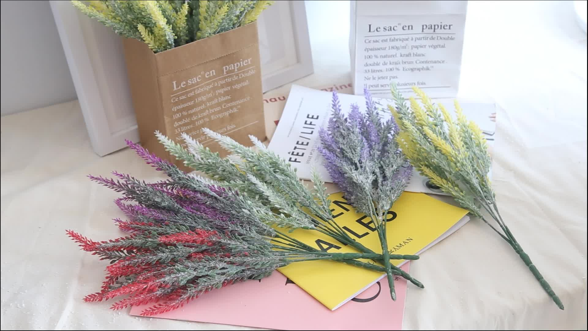 Cheap Handmade Artificial Flowers Plastic Lavender Floral For Festival Party Deco