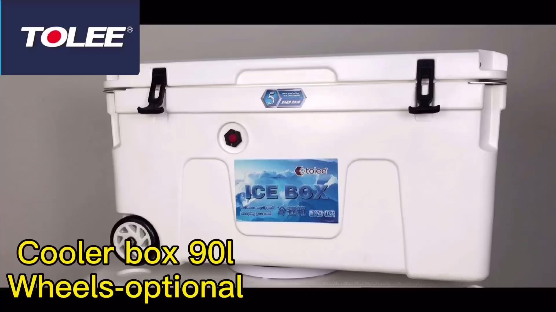90L толее, Прямая продажа с фабрики; Прочный Rotomolded Металл Corona Холодильный шкаф древесины нахлыстом