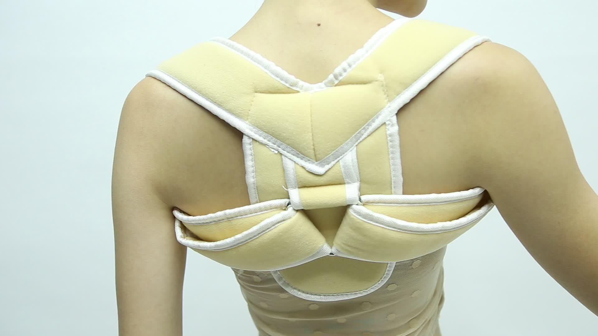 Amazon Sale foam fabric  Men and Women Clavicle Support Back Posture Corrector Brace