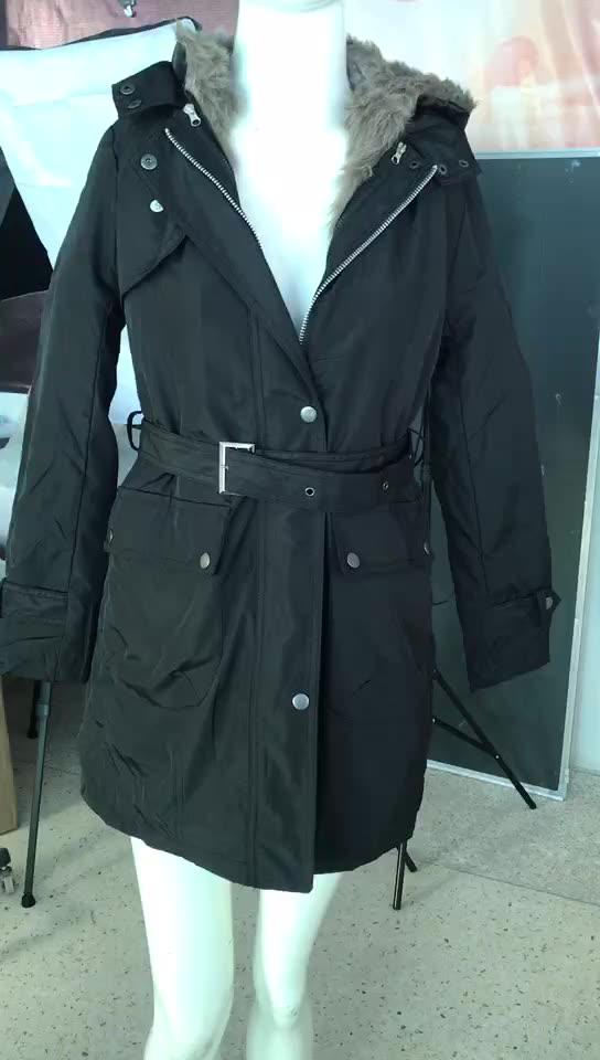 Caliente de las mujeres chaqueta de abrigo de invierno Plus tamaño ropa con capucha de Cuello de piel Parka para mujer Abrigos, cazadoras Chaquetas Outwear
