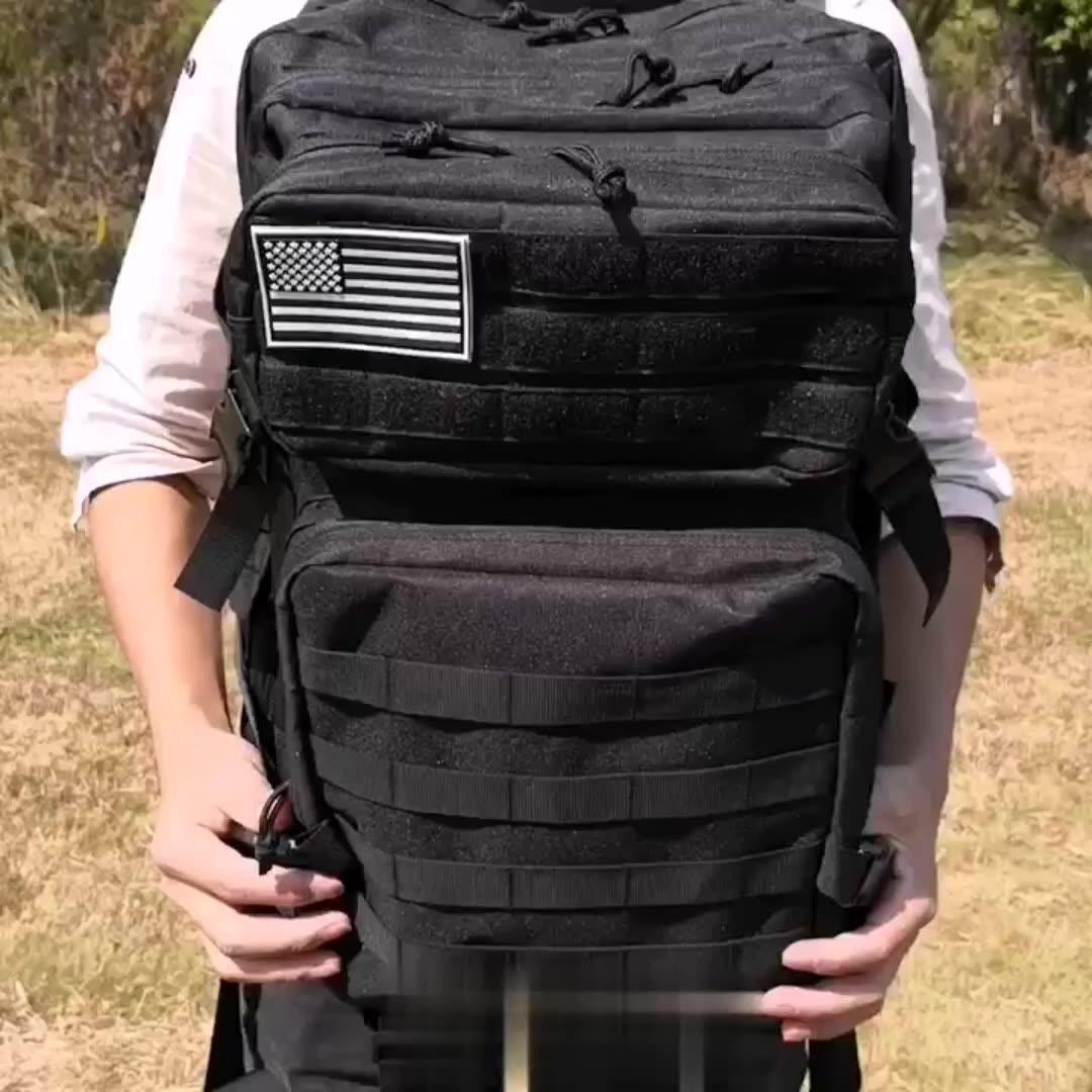 45L Camouflage Oxford Molle Wandelen Outdoor Militaire Rugzakken Custom Tactische Rugzak