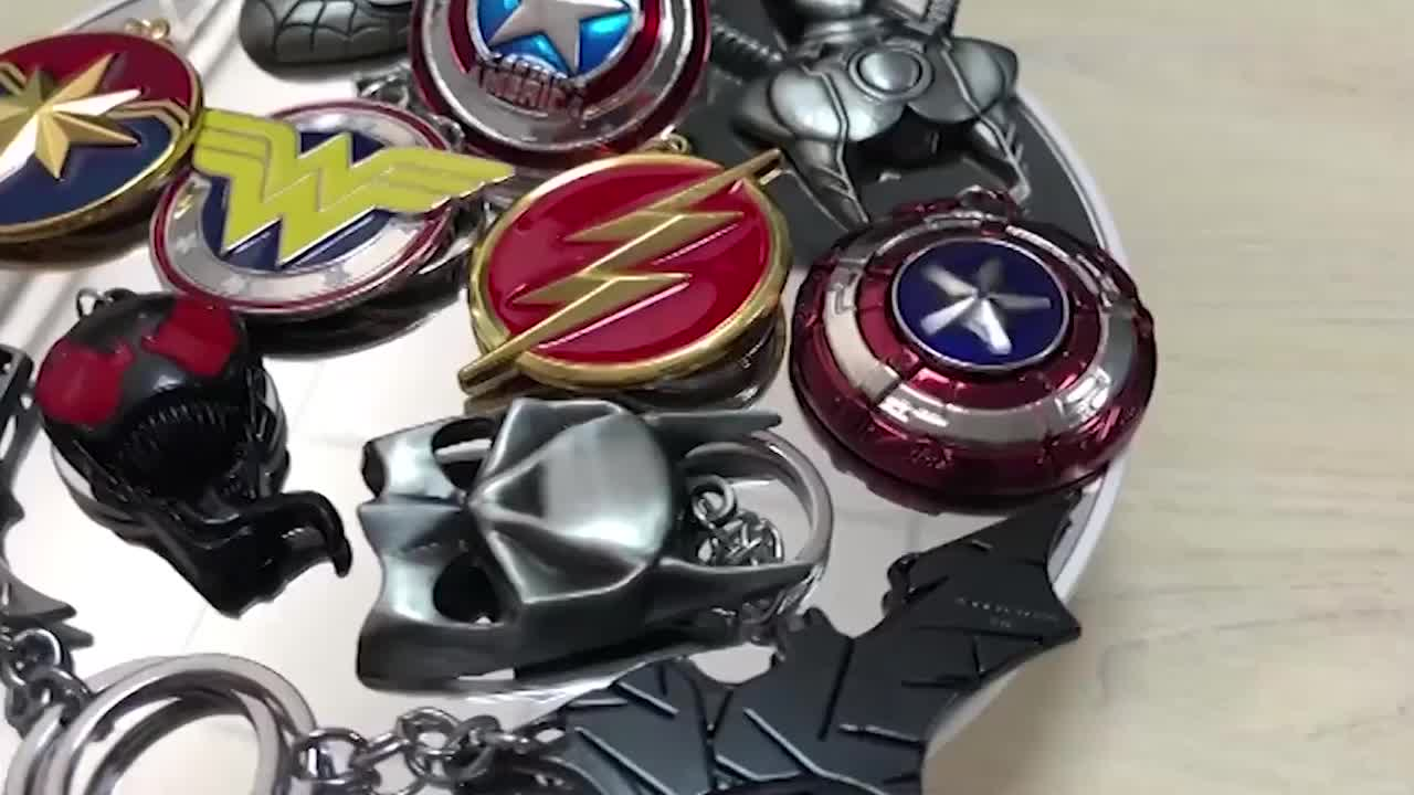 Wholesale metal zinc alloy 3d avengers key chain for Thor hammer