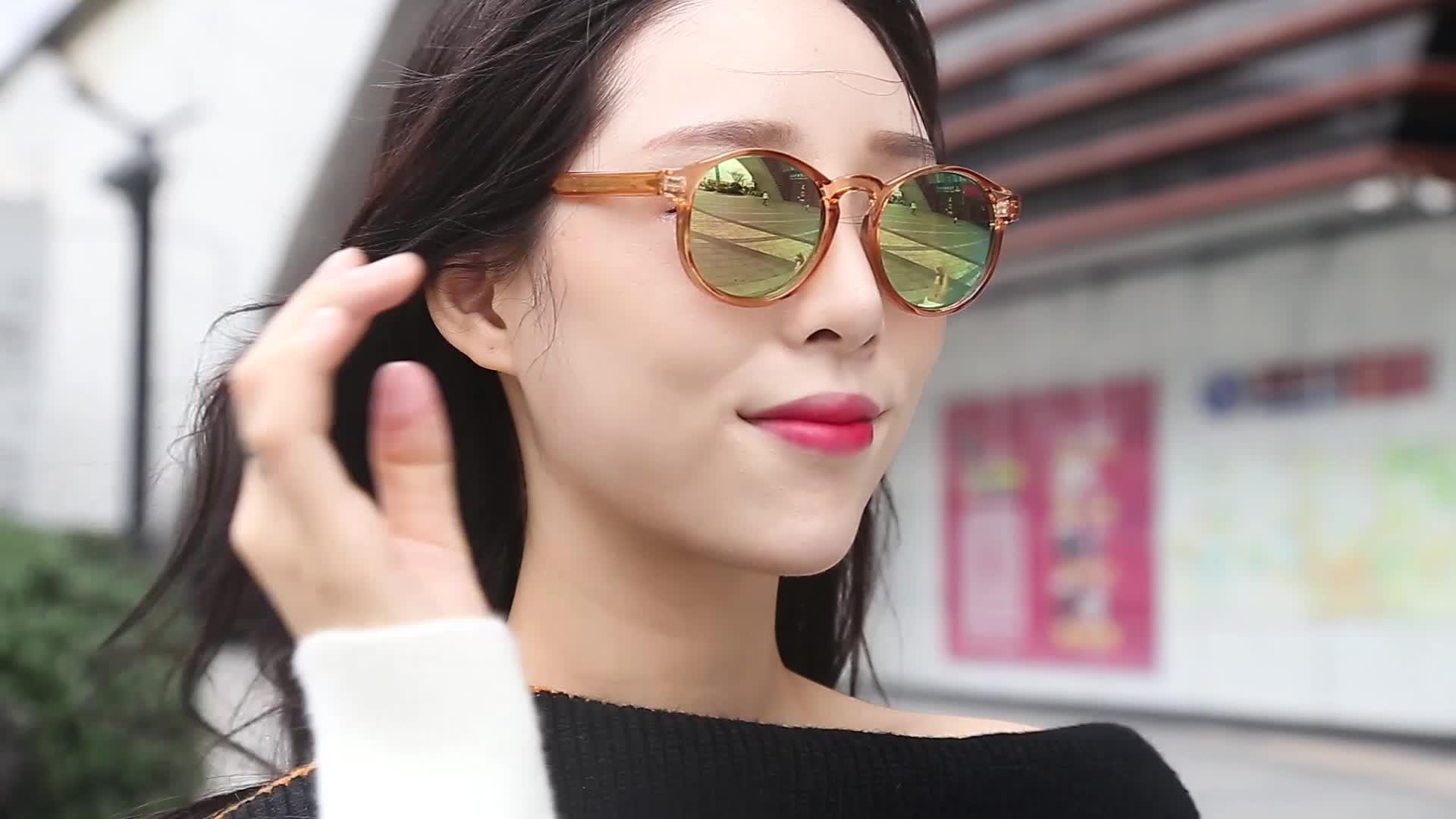 2019 Hot Selling Custom Fashion Ladies Shades Retro Wholesale Fashionable Round Vintage Women Sun Glasses Sunglasses 2020