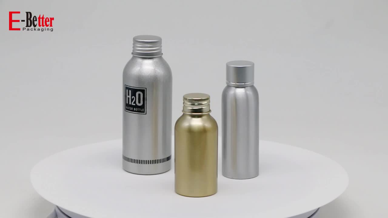 aluminum cosmetic pump bottle 500 ml for oils packaging