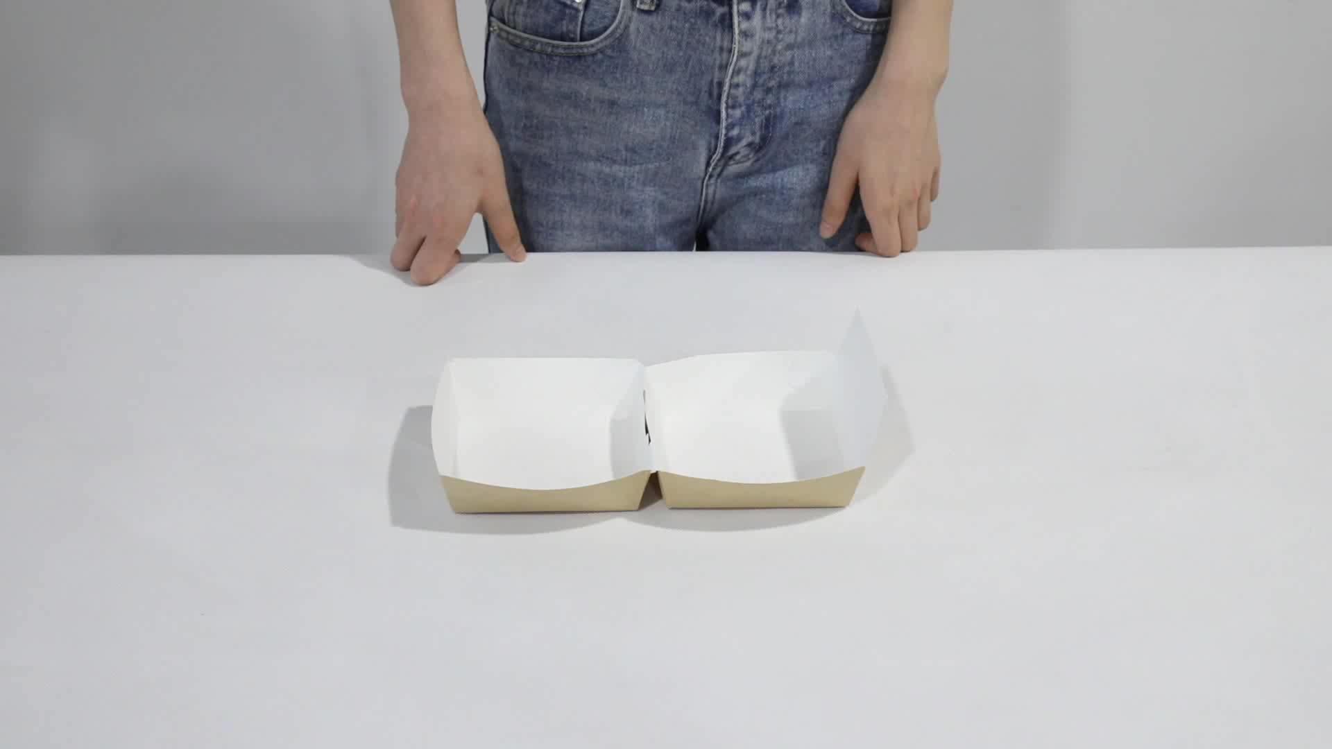 Benutzerdefinierte Karton Hamburger Box, Braun Burger Box Verpackung