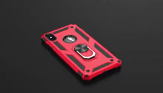 Wholesale phone accessories mobile cover shockproof Metal Ring bracket case for cell phone