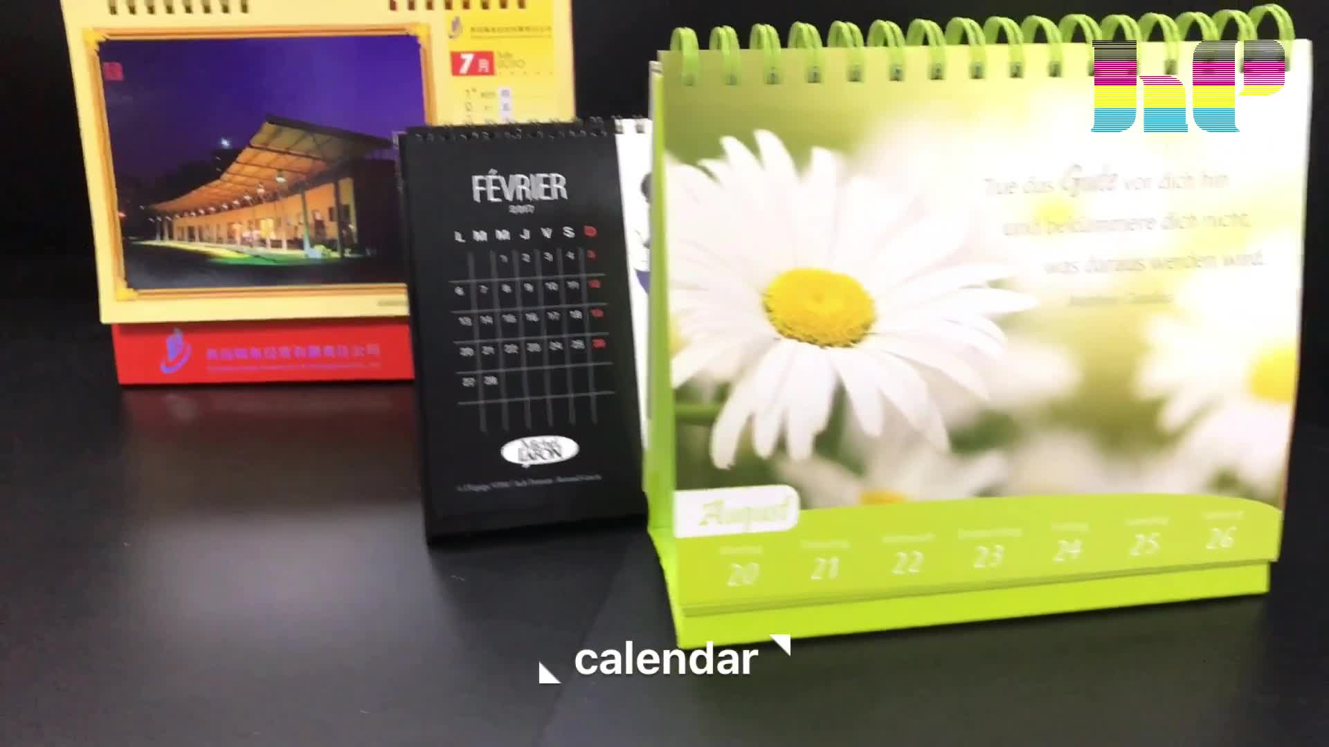 custom services China wholesale cheap CMYK 4 Coloring desk calendar wall calendar printing