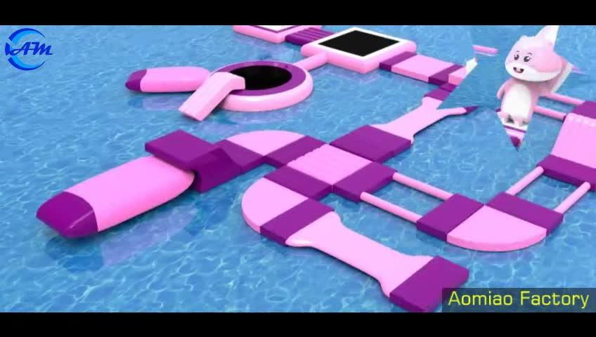 Commerciële Giant Water Pretpark Speeltuin Games Volwassenen Drijvende Opblaasbare Water Park Te Koop