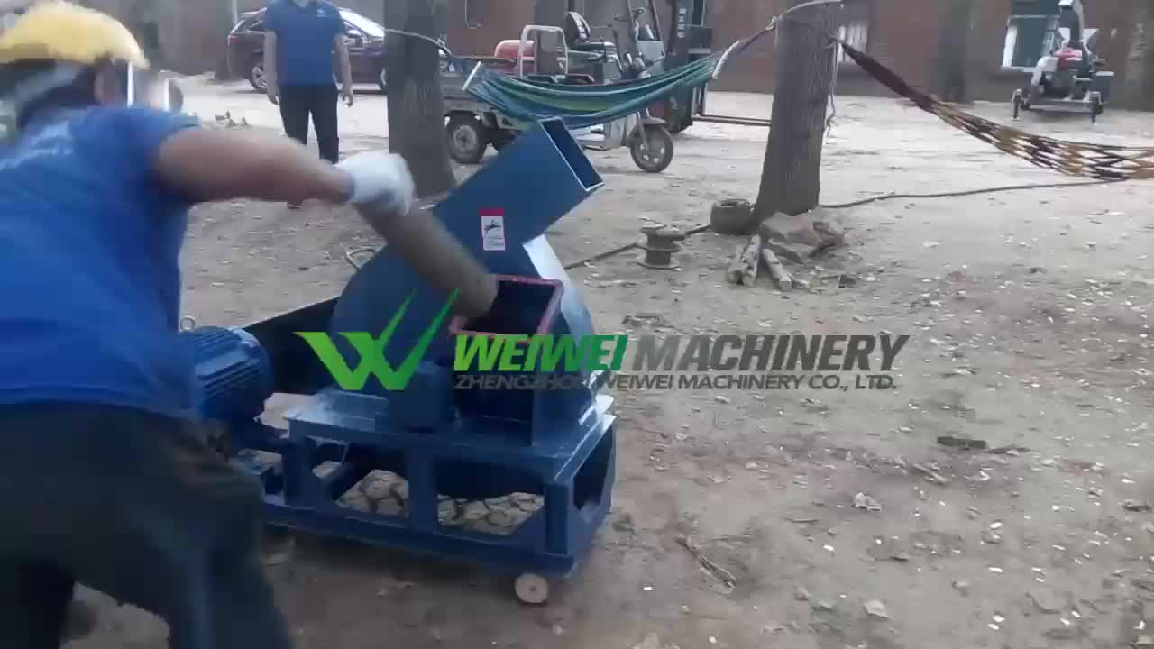 Weiwei mobile diesel engine wood chipper