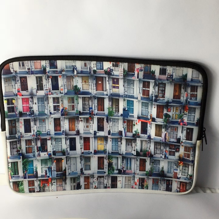 Newest zippered neoprene laptop tablet sleeve wholesale with handle strap