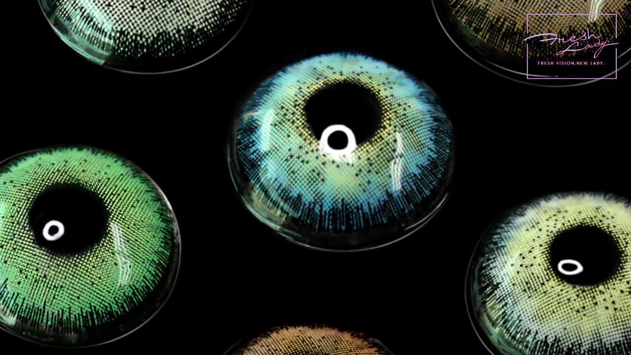 ¡OFERTA 2020! Lentes de contacto de color Freshlady, lentes de contacto de color anuales, venta al por mayor, Círculo de lentillas de color suave
