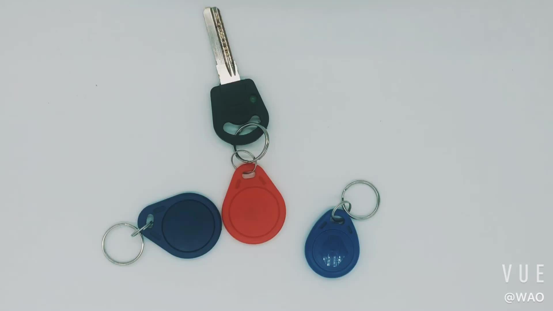 Cheap Leather TK4100 Rfid Key fob Tag NFC Keychain