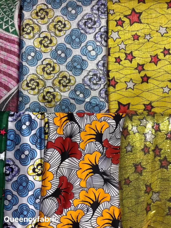 Queency Popular Design Print Satin Fabric Soft Materials African