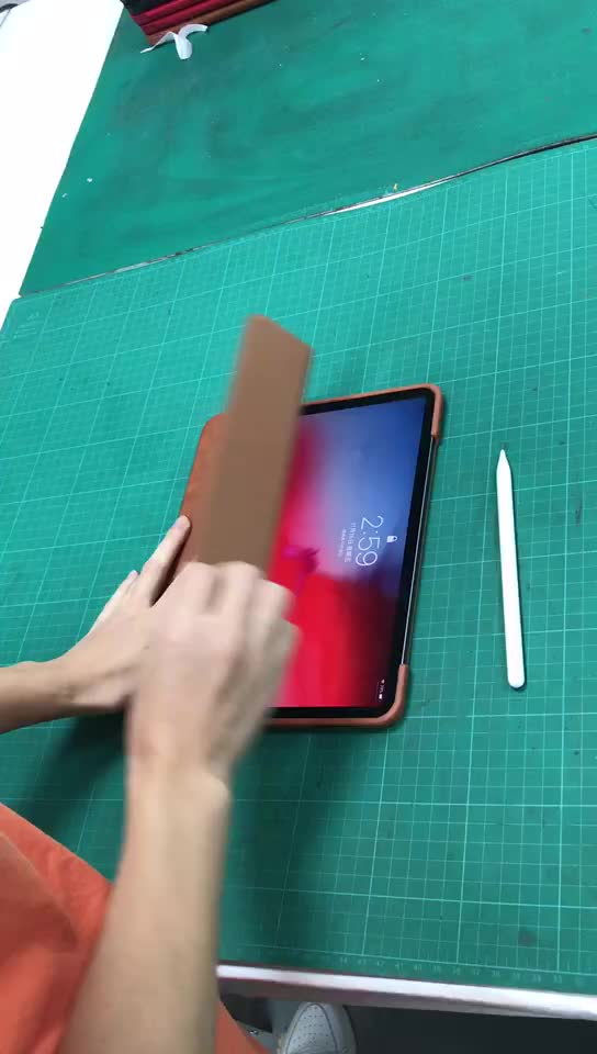 Shockproof pu leather flip cover cases for ipad pro 11 inch with pencil holder