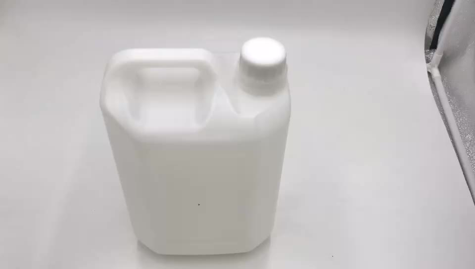 White Plastic HDPE F-Style Jugs White Lined Ribbed Caps