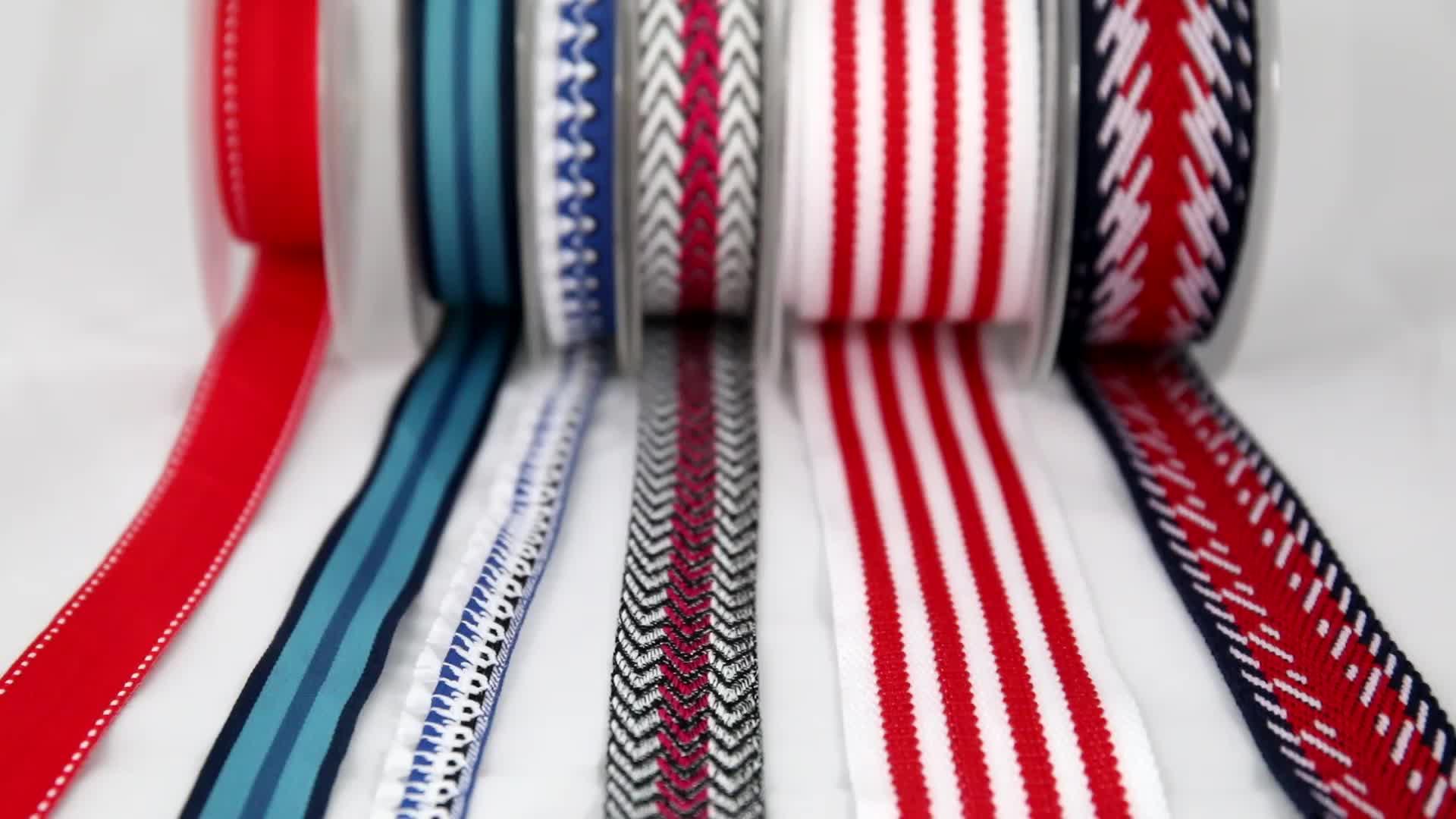 custom embroidered decorative polyurethane webbing