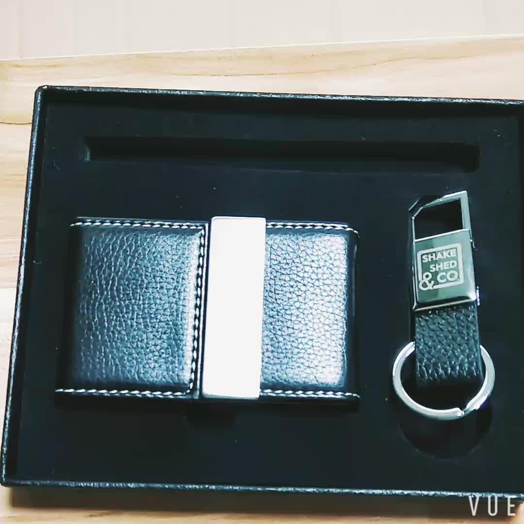 Pena Gantungan Kunci dan Kartu Hadiah Set Eksekutif Perusahaan Gift Set Gift Set Promosi untuk Klien