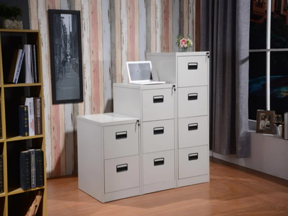Knock down 4 drawer metal file cabinet