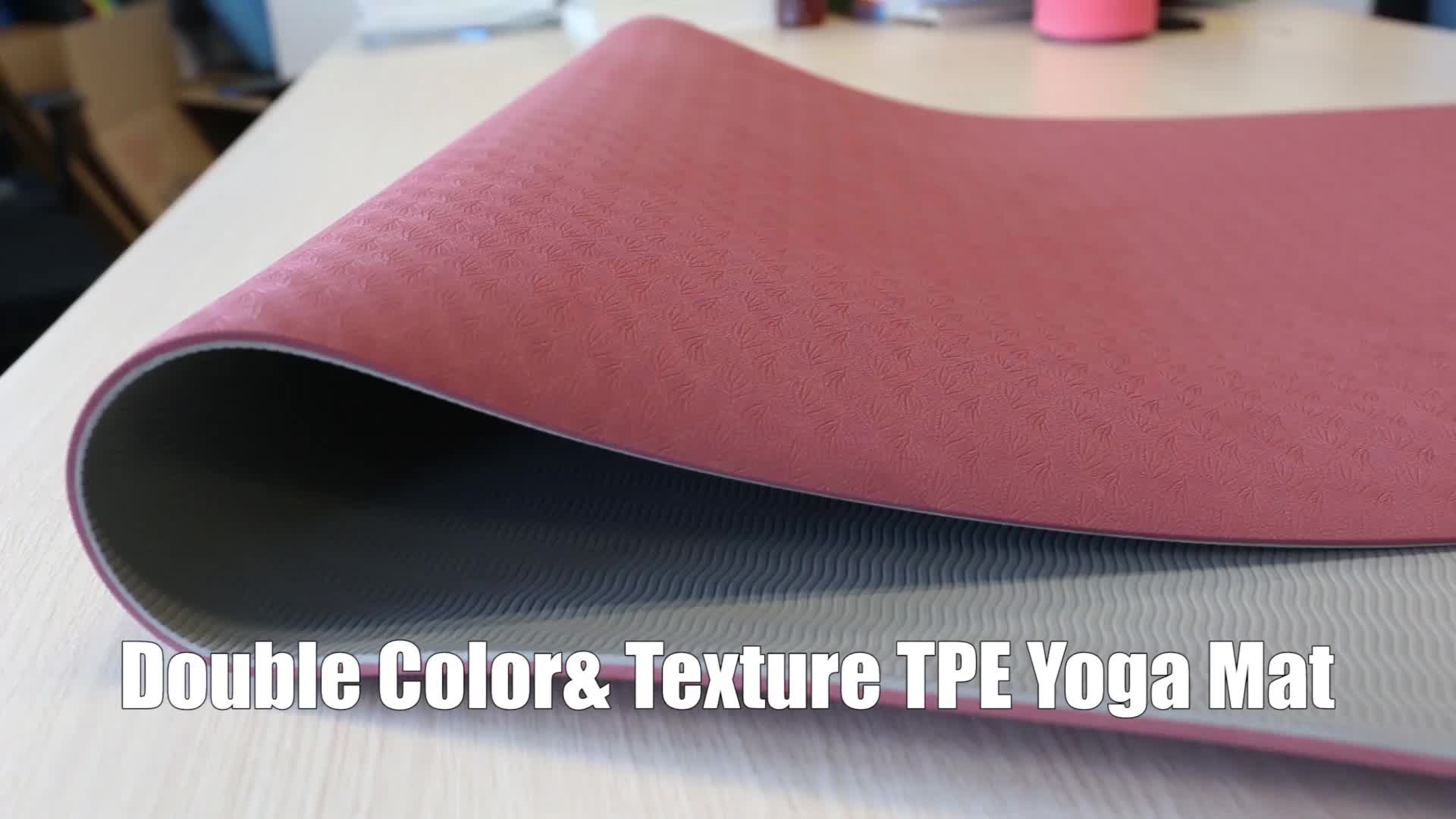 Duurzaam Eco Vriendelijke antislip Gym Oefening TPE Yoga Mat