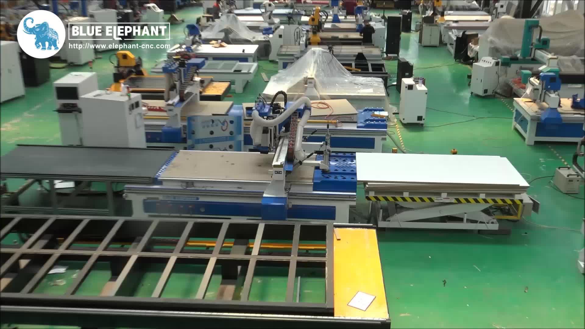 Houtbewerking cnc machine ELE 1330 multi spindel cnc router voor bouwmaterialen