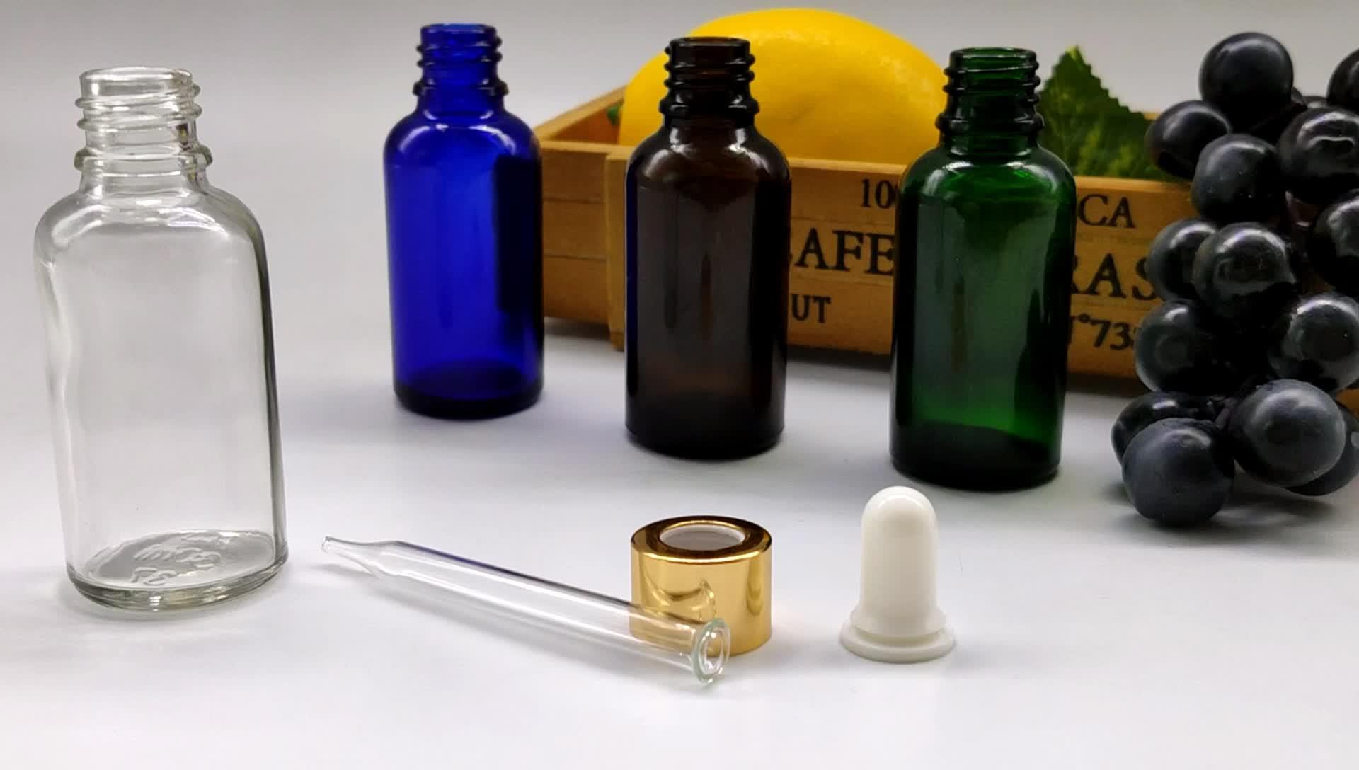 30ml BottlesDropper para Óleos Essenciais de Vidro azul Eliquid/Ejuice