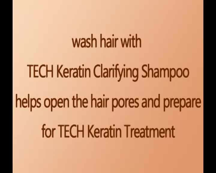 OEM deep cleansing clarifying hair treatment straightening bio keratin shampoo