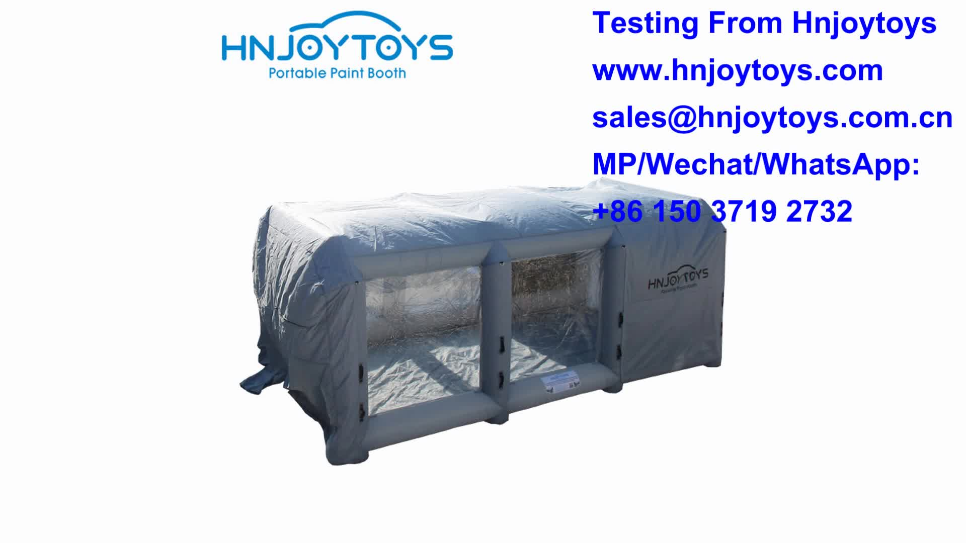 Hot sale Outdoor inflatable automotive portable paint booth for cars cheaper
