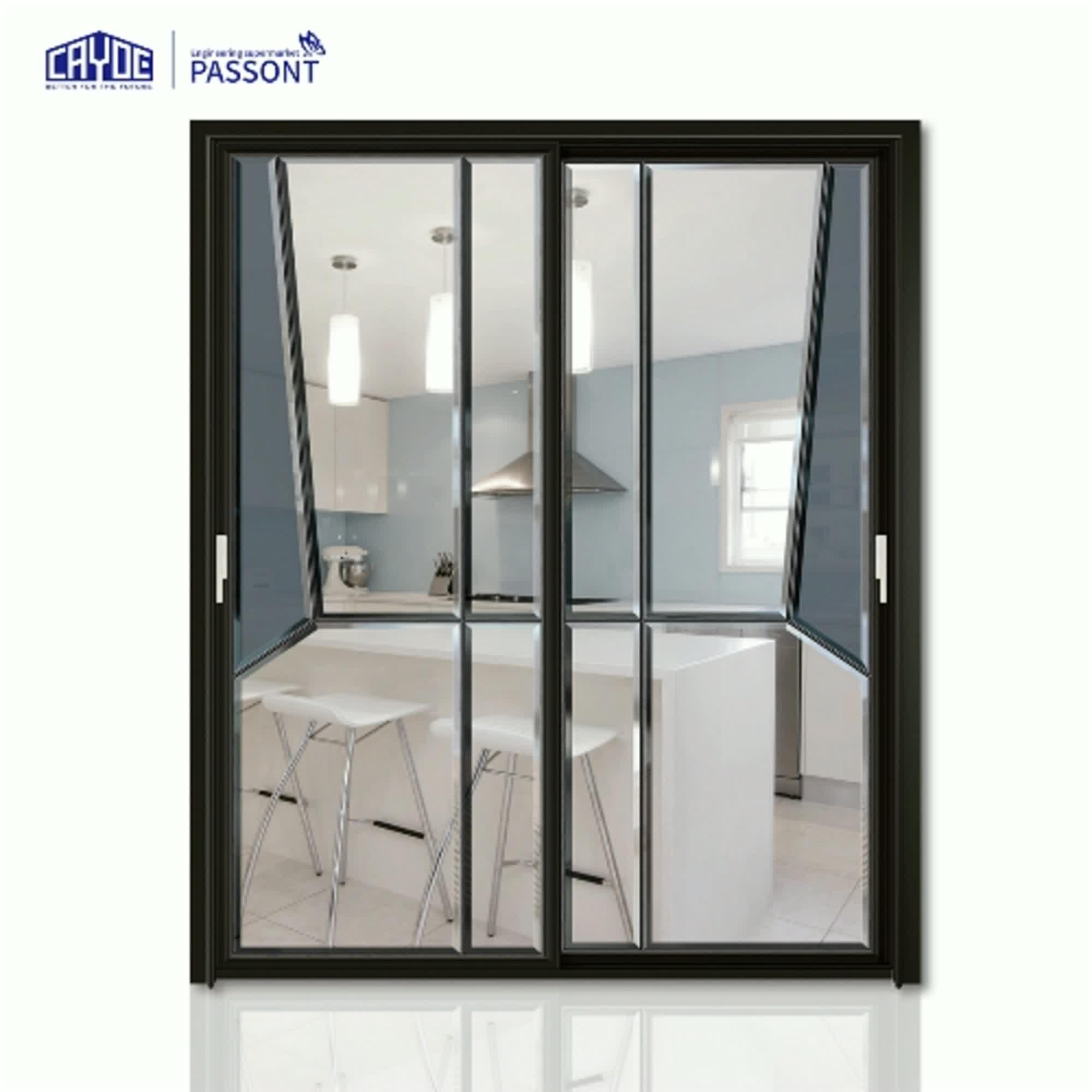 sliding door 3 panel aluminum sliding patio door price with tempered glass