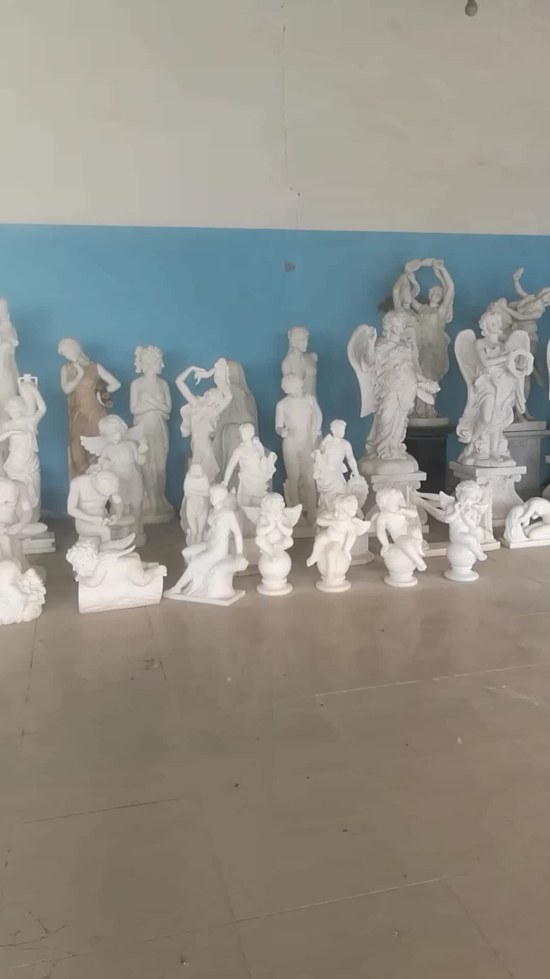 Hand Carved Natural  White Marble  Four Season Sculptures
