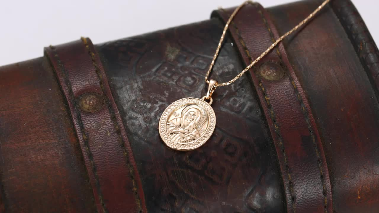 31893 Xuping Fashion Pendant with 18K Gold Plated, Virgin Mary Jewelry Gold Pendant