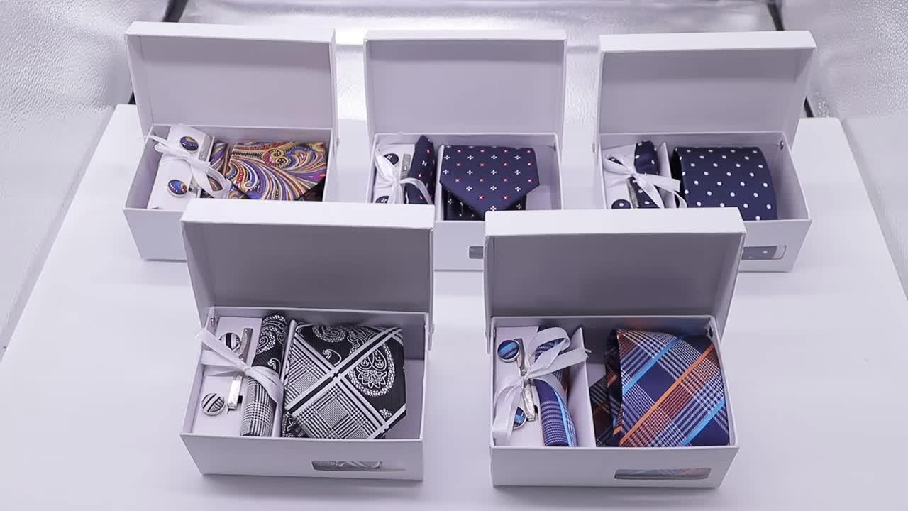Fashion Custom Available Gift Tie Box Set Necktie Set