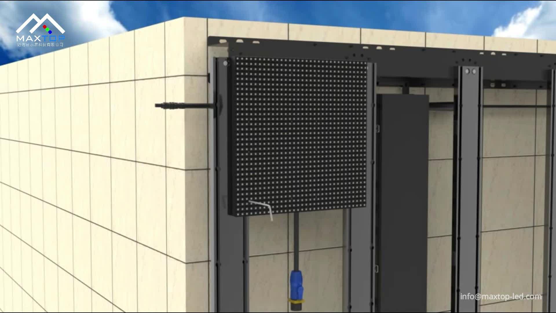 بناء التجارية فائقة مشرق P6 P10 شاشة LED خارجية