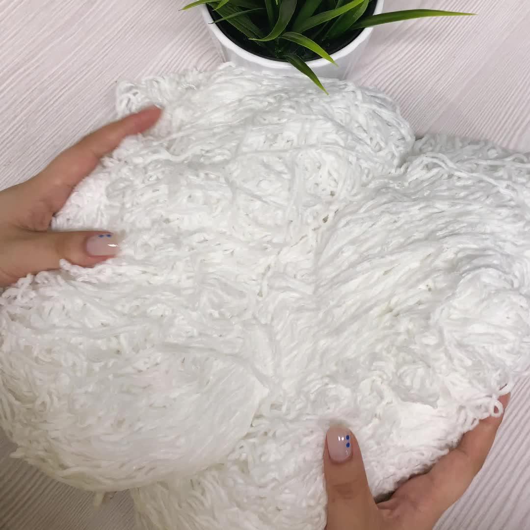 Charmkey Super Soft Polyester Chenille Yarn Knitting Yarn For Knitting Blanket And Garments