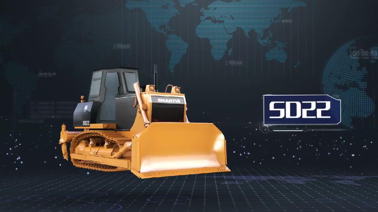 Shantui Dozer SD16 SD22 SD32 SD42 Crawler Bulldozer Machinery with Ripper