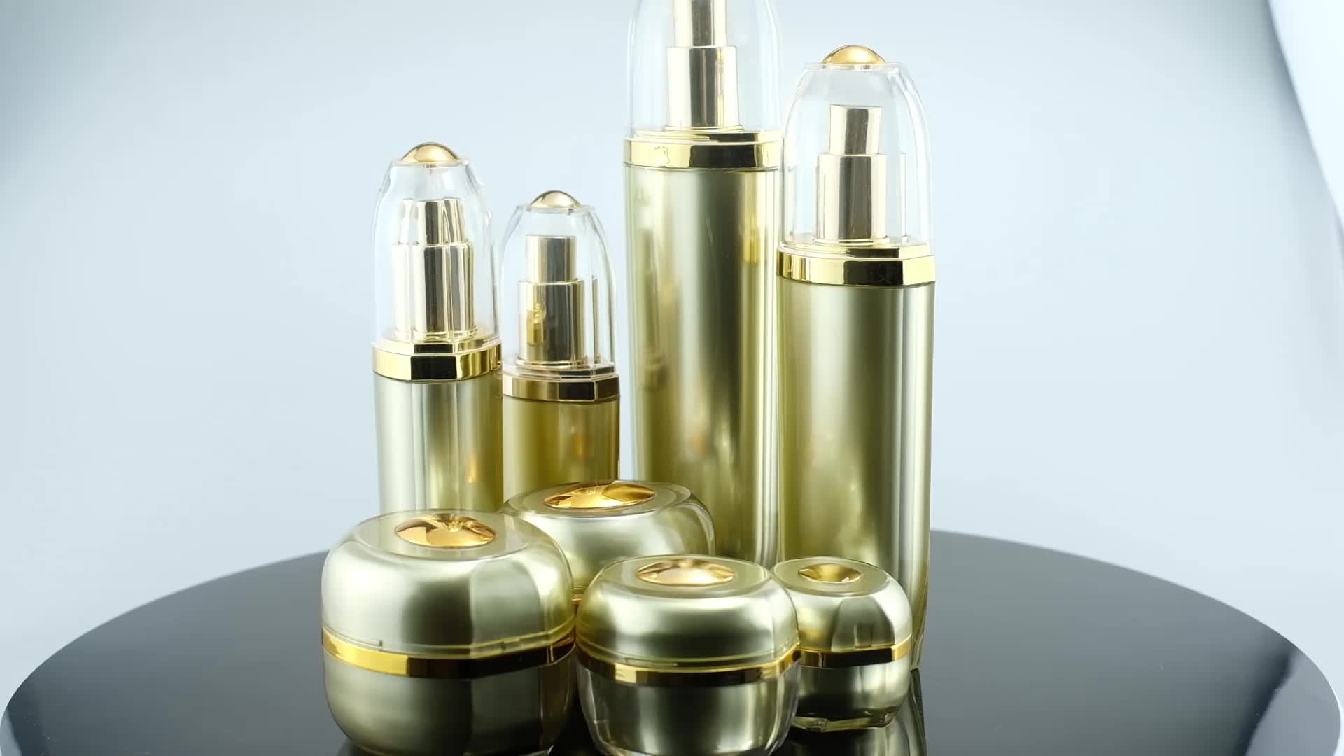 (Jar-5/10/15/20/30/50g)(Bottle-20/30/50/80/100ml)Hot Sale  Acrylic Cosmetic Cream Jar and Spray Pump Bottle Family Set
